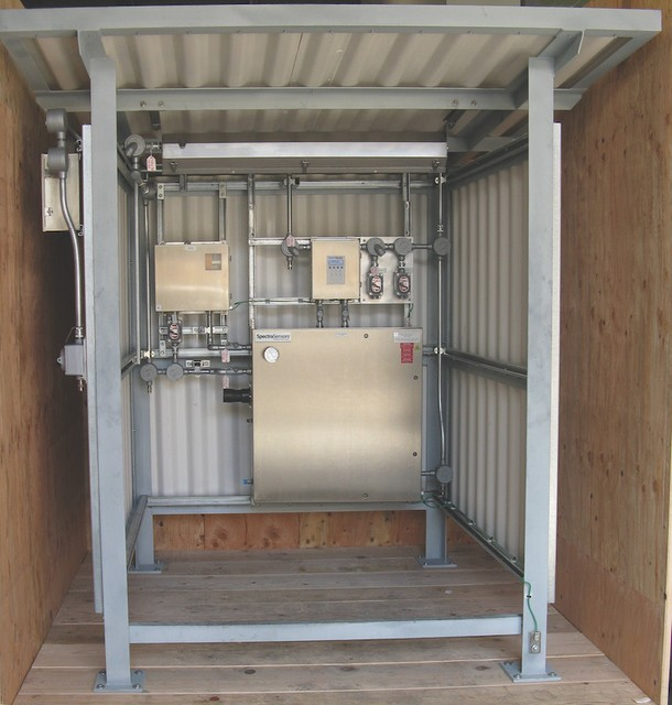 Shelter with TDL crated to be shipped